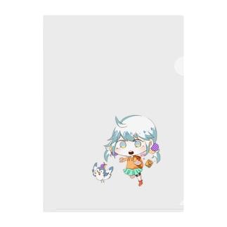 カエデちゃんアイテム〜鳥さん追いかけVer.〜 Clear File Folder