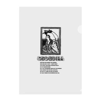Shoebill Clear File Folder