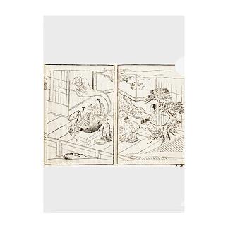 メディア木龍・谷崎潤一郎研究のつぶやきグッズのお店の夢応の鯉魚(裏写り低減版)L Clear File Folder