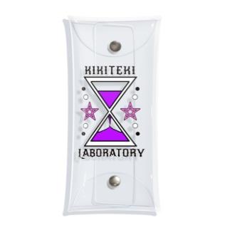砂時計 紫×ピンク Clear Multipurpose Case