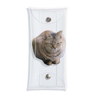 睨みを効かせた猫 Clear Multipurpose Case
