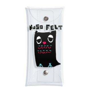 KUSO FELT(kurofuku) Clear Multipurpose Case