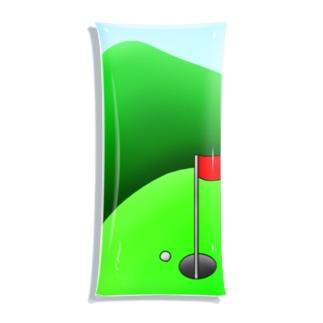 長くのびるゴルフ場 Clear Multipurpose Case