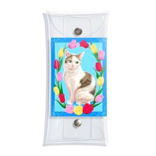 チューリップと猫 Clear Multipurpose Case