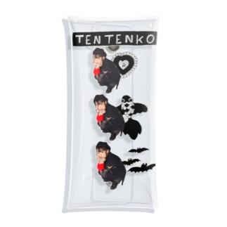 テンテン商店 in SUZURIのテンテンコ お絵かきシリーズ ~𓆛Goldfish𓆛~ Clear Multipurpose Case