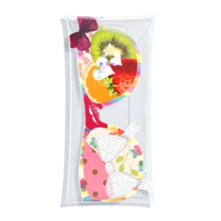からふるスイート眼鏡 Colorful sweet glasses Clear Multipurpose Case