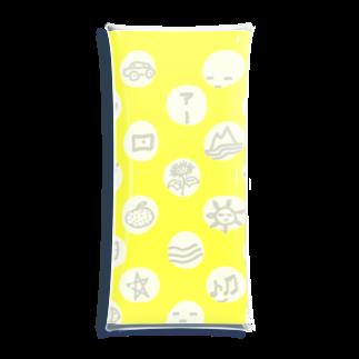 ゴータ・ワイの水玉 落書き 黄色 Clear Multipurpose Case