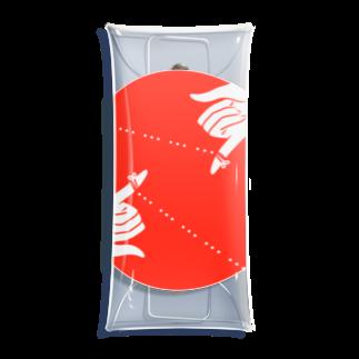 うらめし屋の運命の赤い糸は三点リーダ ふたり Clear Multipurpose Case