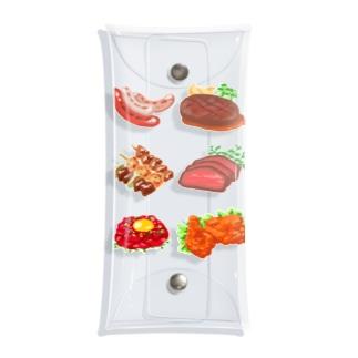 肉が好き Clear Multipurpose Case