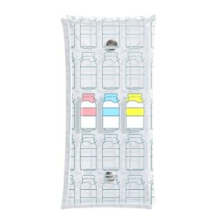 ぎゅうにゅうびん Clear Multipurpose Case