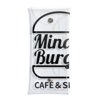 MinatoBurgerグッズ(ブラック) Clear Multipurpose Case