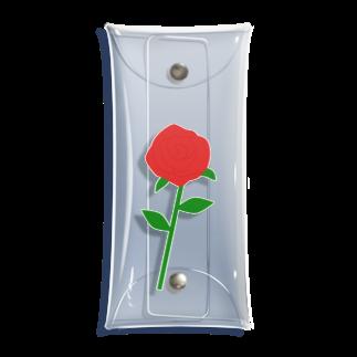 つきしょっぷの一輪の赤いバラ Clear Multipurpose Case