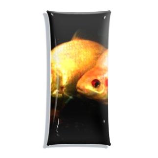 金魚2匹 Clear Multipurpose Case