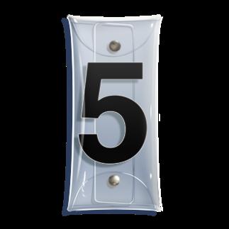 インジュンの5 - five (Helvetica) Clear Multipurpose Case