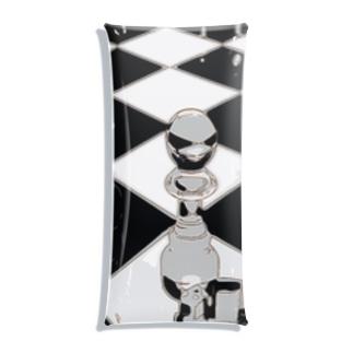 チェス モノトーン Clear Multipurpose Case