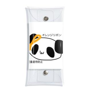 オレンジリボンを付けたパンダ Clear Multipurpose Case