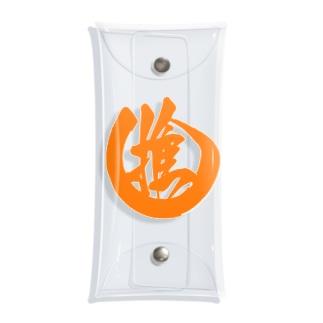 推しマーク オレンジ Clear Multipurpose Case