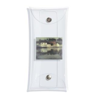 湖スレスレのお家 西洋画 Clear Multipurpose Case