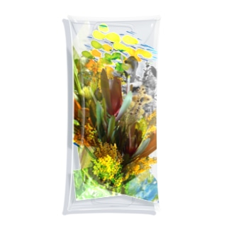 + Fete des fleurs 02《Leucadendron+yellow flowers》 Clear Multipurpose Case