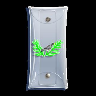 Lily bird(о´∀`о)のハイイロエボシドリと葉っぱ② Clear Multipurpose Case