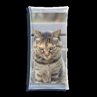 みか猫の猫くん Clear Multipurpose Case