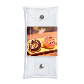 【スイーツ】Prism coffee beanのミニチュアドーナツ Clear Multipurpose Case