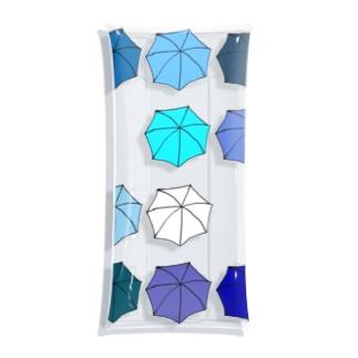 傘の花 あお Clear Multipurpose Case
