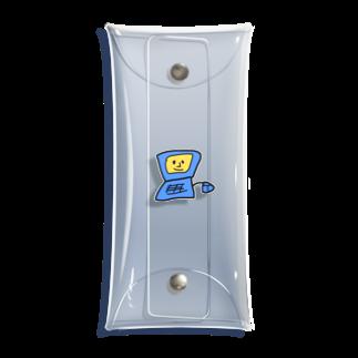 しなびたアフロのぱそこんくん 青 Clear Multipurpose Case