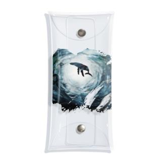 深海に棲む孤独なクジラ。 ブラシ Clear Multipurpose Case