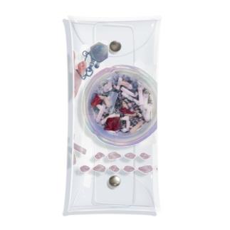 おりぼんちゃんと灰皿とチョコ Clear Multipurpose Case