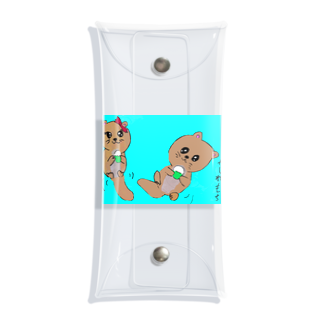 yutura117のラッコとかしわ餅 Clear Multipurpose Case