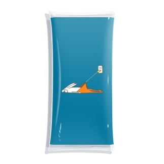 くらきち ONLINE SHOPのうさぎタイツの充電 Clear Multipurpose Case
