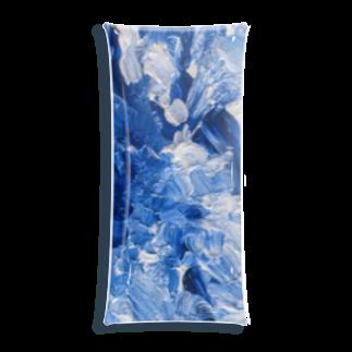 潮見が丘商店の青い Clear Multipurpose Case