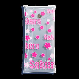 Side runの館 B2の桜 Sakura 2nd Clear Multipurpose Case