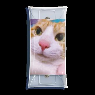 昭和~平成~令和系のりさぴん@の保護猫 セサミくん Clear Multipurpose Case