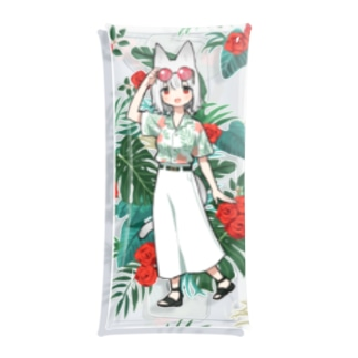 Summer vacation(amy ver.) Clear Multipurpose Case
