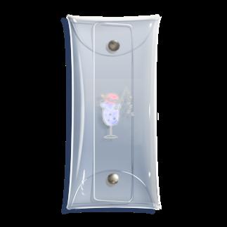 はにわとくらげ。の土星クリームソーダ1(夜空色 pink) Clear Multipurpose Case