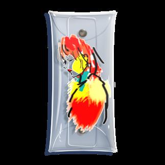 kuroの赤リップ Clear Multipurpose Case