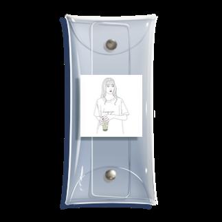 kaguyaの抹茶タピオカ Clear Multipurpose Case