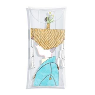 水仙の花笠の絵 Clear Multipurpose Case