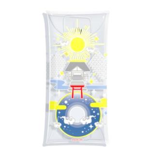 聖域 太陽と月と神社 Clear Multipurpose Case