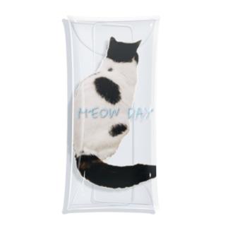 モノクロ猫 Clear Multipurpose Case