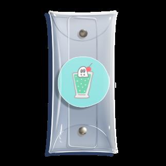 247_Zsのクリームソーダおばけ Clear Multipurpose Case