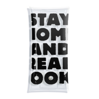 STAY HOME AND READ BOOKS Clear Multipurpose Case