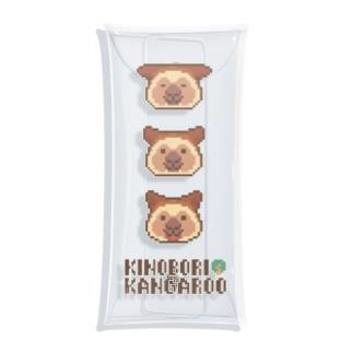 ピクセルキノボリカンガルー Clear Multipurpose Case