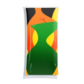ボディコンお姉さん(黄色と緑) Clear Multipurpose Case