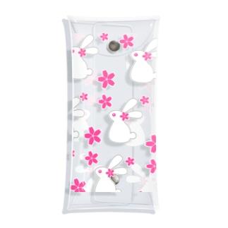 桜とうさぎB Clear Multipurpose Case