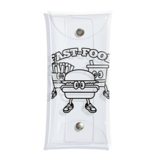 Candy Candyのfastfood_bros Clear Multipurpose Case
