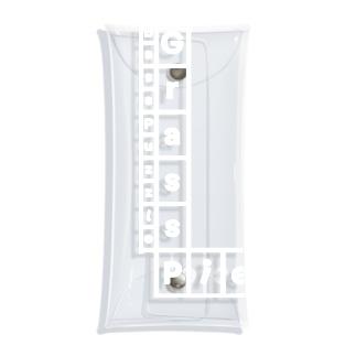 クリアケース - Grass Piece / Left Bottom Logo / White Clear Multipurpose Case