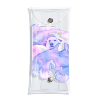chicacoの眠っているシロクマ Clear Multipurpose Case